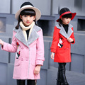 Fashion Kids Clothes Winter Woolen Coat For Girls Baby Clothes Parka Elegant Clothing For Girls Girl Outerwear Luxury