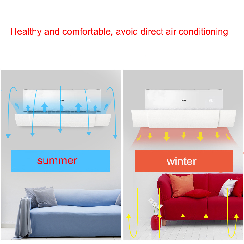 BEEMSK Home air conditioning Adjustable windshield air conditioning baffle shield wind guide month straight anti wind shield NEW in Racks Holders from Home Garden