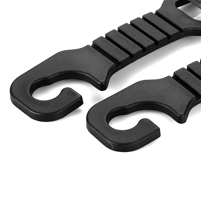 4pcs High quality black color car hook car seat pothook Car Wear hook rair-conk ABS Bearing Automobiles Accessories 3kg