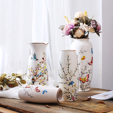Chinese Modern Ceramic Vase Wedding Decoration Home Decor Living Room Porcelain Flower character pattern vase