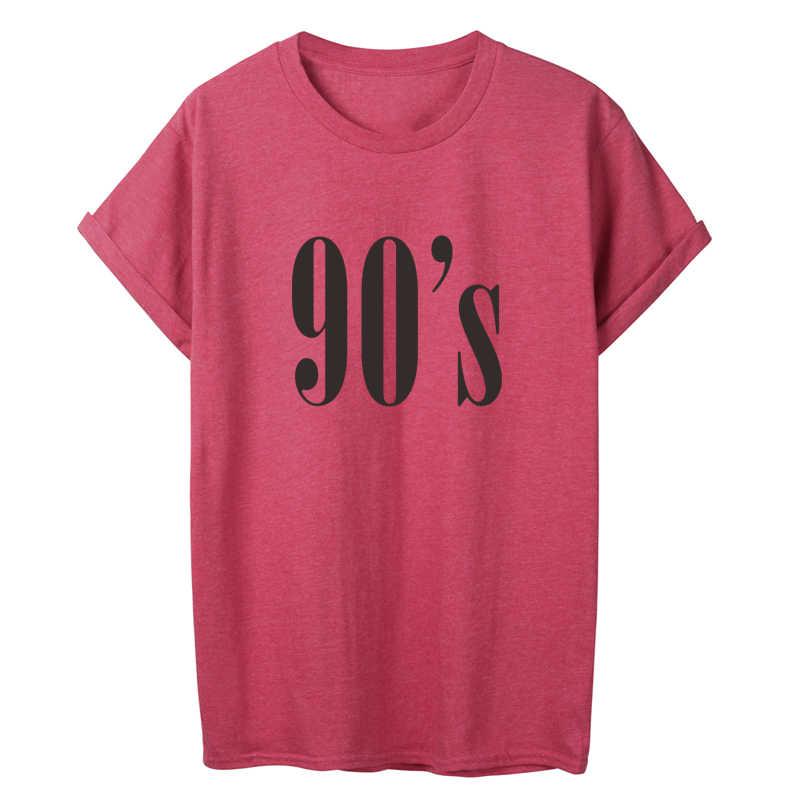 ONSEME Femminile di Estate Casual Cotone T Camicette anni '90 Lettera T Shirt Tumblr Della Signora Girl Streetwear di Base Magliette Harajuku Magliette e camicette Tshirt