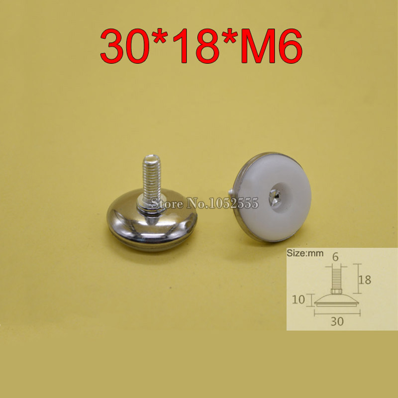 100PCS/lot 30*18*M6 Universal Furniture Adjustable Legs Table Leveling Feet Pads Screws Protector KF244 thyssen parts leveling sensor yg 39g1k door zone switch leveling photoelectric sensors