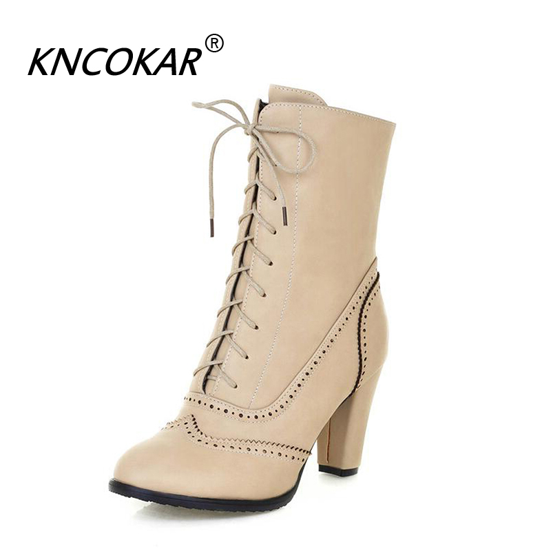 KNCOKAR New Style Pointed Ladies Leather Boots Elegant And Fashionable High Heel Big Size Female Boots x0950KNCOKAR New Style Pointed Ladies Leather Boots Elegant And Fashionable High Heel Big Size Female Boots x0950