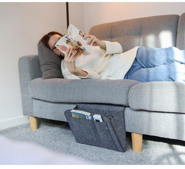 Colgando organizador de cabecera se sofá cama bolsillos de almacenamiento organizar Tablet revista móvil iPad libro de dormitorio caja de almacenamiento de 2019