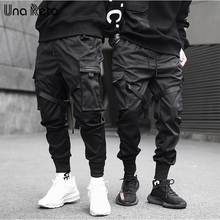 Una Reta กางเกงผู้ชายสินค้าใหม่ Joggers ลำลอง Harem กางเกงญี่ปุ่น SLIM FIT Sweatpant กางเกง Hip Hop Man Streetwear