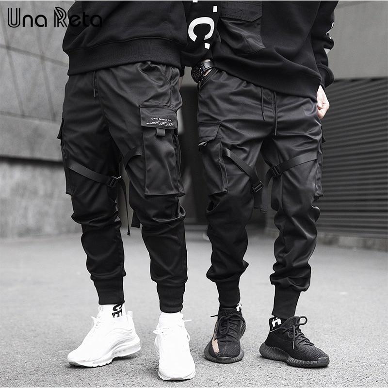 Una Reta Pants Men New Arrivals Casual Joggers Harem Pants Japanese Slim Fit Sweatpant Hip Hop Trousers Man Streetwear