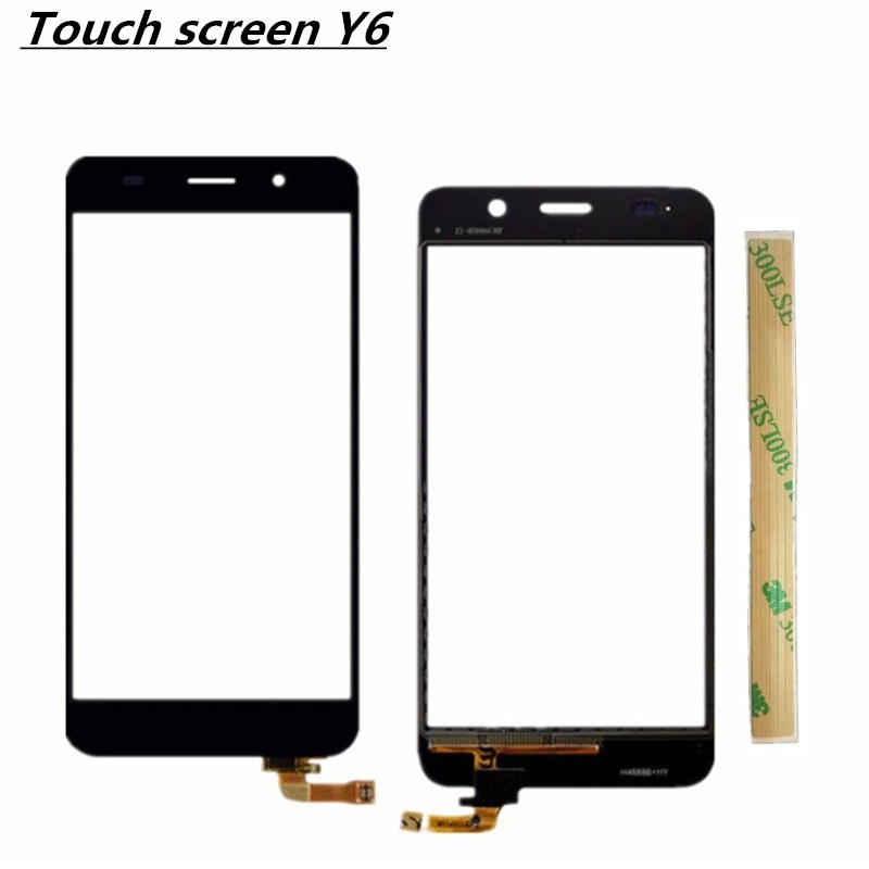 Black Replacement Digitizer Touch screen For Huawei Y6 Touchscreen Sensor Front Glass Panel Window Touch screen
