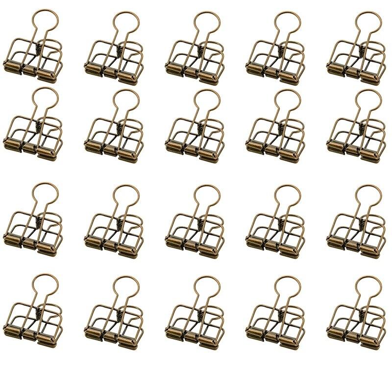 Logisch Kleur Hollow Out Papier Binder Clip Factuur Bill Clip Kantoorbenodigdheden Pack Van 20 (brons) 50% Korting