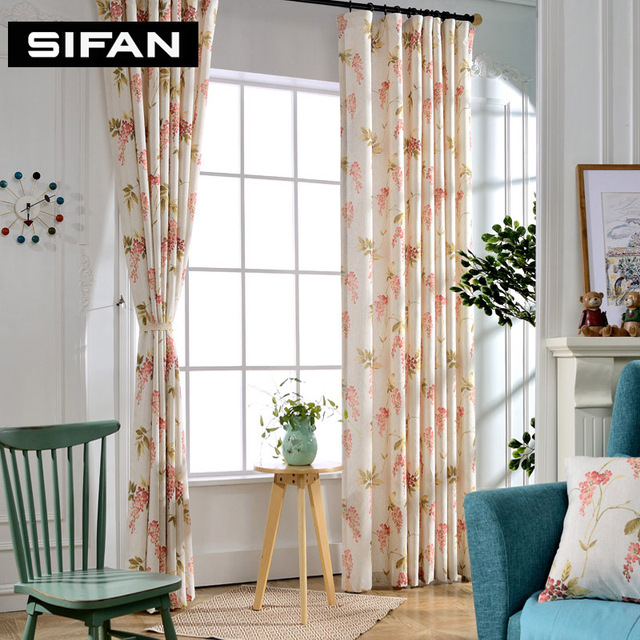 Luxury Printed Cotton Linen Curtains For The Bedroom Fancy Window Living Room Decorative Custom Made