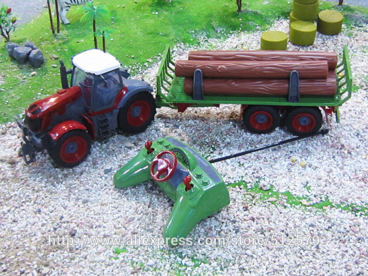 Kingtoy Detachable Remote Control Big Size Multifuncional RC Farm Trailer Tractor Truck Toy
