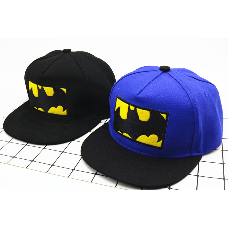 100% Quality Casual Fashion Cute Baby Cartoon Batman Snapback Hat Unisex Kids Baseball Cap Baby Girl Boy Sun Hat Infant Cap