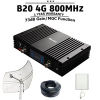 Lintratek B20 4G LTE 800mhz 73dB Gain Mobile Cellular Signal Booster MGC Powerful Cell Phone Signal Amplifier 4G Repeater $20