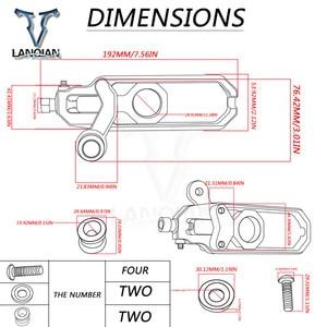 Image 5 - CNC アルミオートバイアクセサリーリア車軸スピンドルチェーンアジャスターブロックテンショナー bmw S1000RR S1000RR HP4 2009 2016