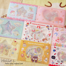 Lovely My Melody Little Twin Stars Cinnamoroll Pudding Dog PVC Sticker Decoration Index Stickers for kids toys