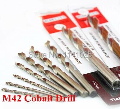 5PCS 4.2mm M42 HSS-CO Cobalt Twist Drill Bits, Cobalt DrillBits, In HSS Straight Shank Twist Drill Set