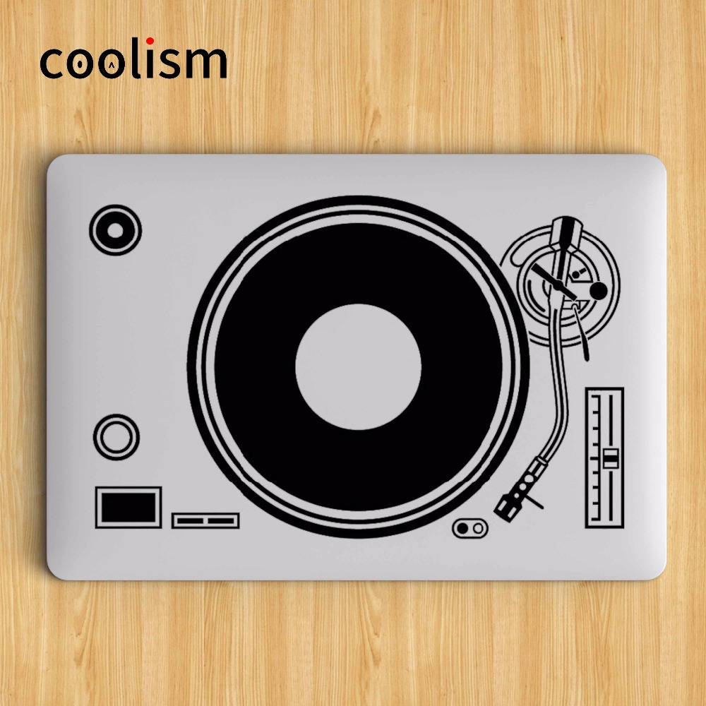 "DJ Technics Deck Record Player Laptop Sticker para Apple Macbook Decal Air Pro Retina 11 ""12"" 13 ""15 Decorativo Mi Notebook Decal"