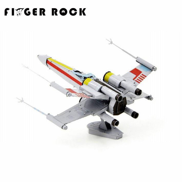 Finger Rock Xwing Fighter Model Metal 3D Puzzle DIY Laser Cutting Educational DIY Toys for Children