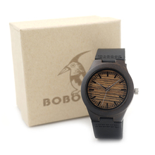 БОБО ПТИЦА E26 женщин Дизайн Бренда Роскошный Деревянный Бамбука Часы с Натуральной Кожи Кварцевые Часы Как Подарок для Женщин relojes mujer