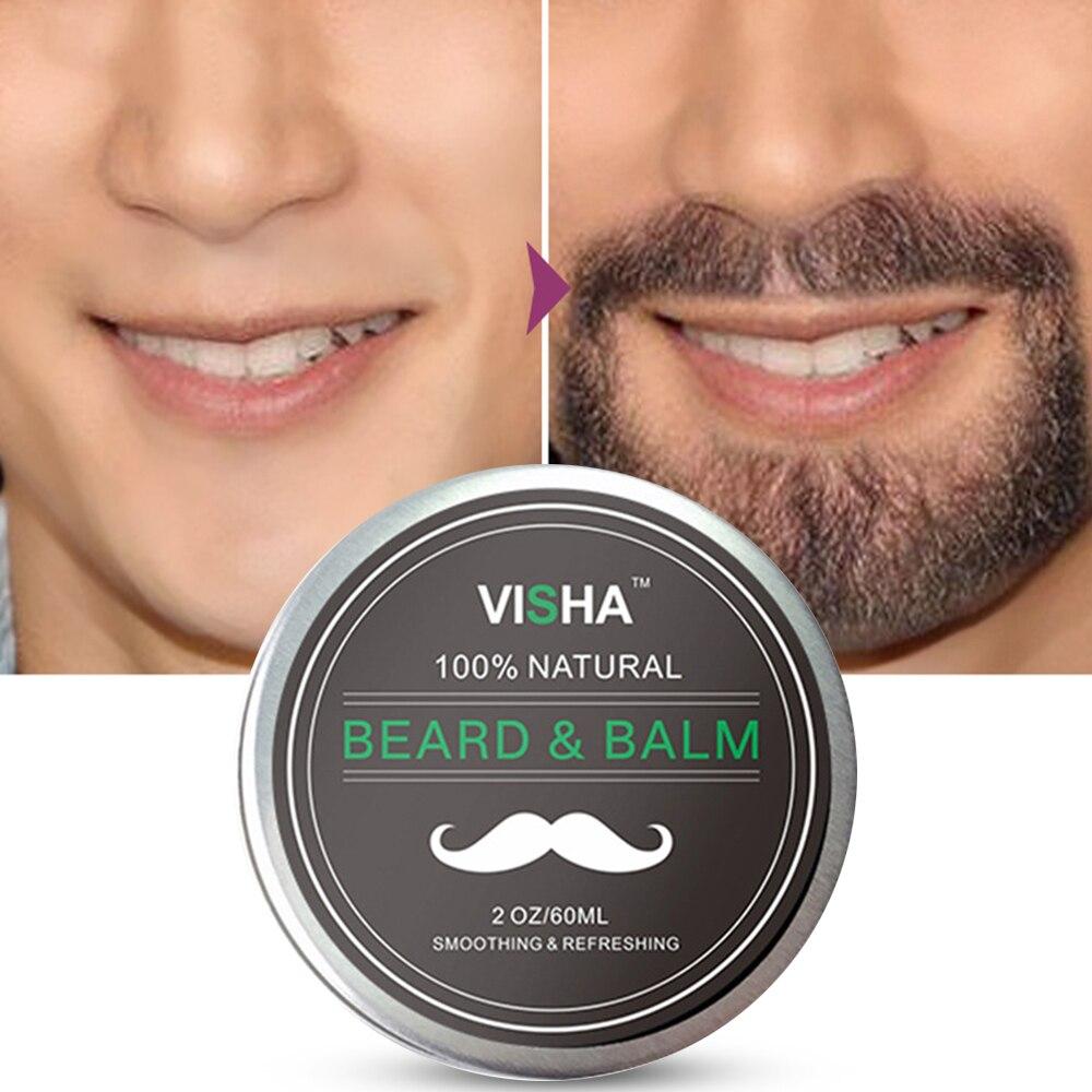 New 70ml Men's Beard Growth Cream Natural Organic Treatment Fresh Non-greasy Cream Beard Growth Grooming Care Beard Balm