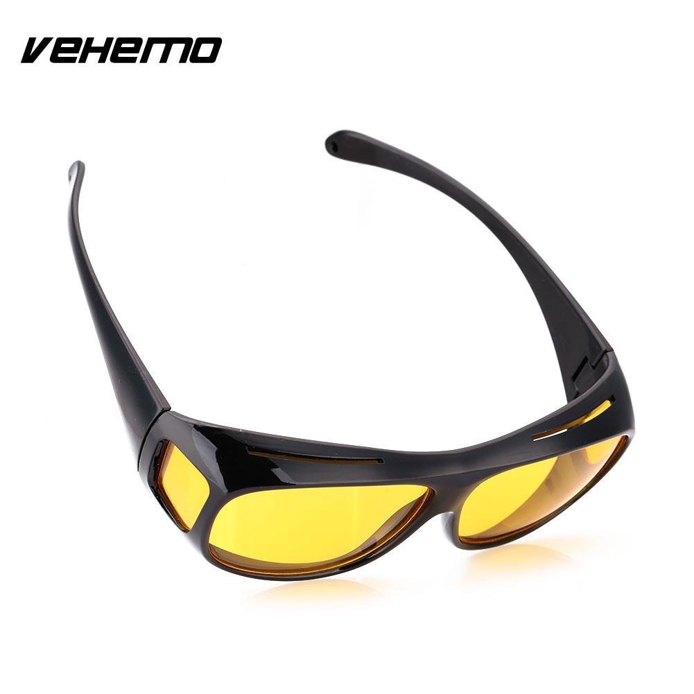 Vehemo Men Women Sunglasses Unisex HD Yellow Lenses Sunglasses Night Vision Goggles Car Driving Glasses Eyewear UV Protection chic metal frame rainbow color lenses black sunglasses for women aviator