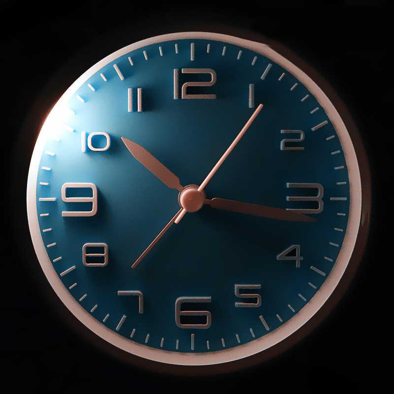 2018 Новая мода часы твиновский колокол бесшумный сплава нержавеющей металлический будильник супер громкий звуковой сигнал для тяжелых слиперы настольные часы