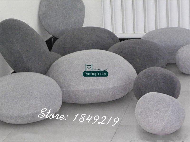 lote enorme pelúcia emulational pedra travesseiro sala