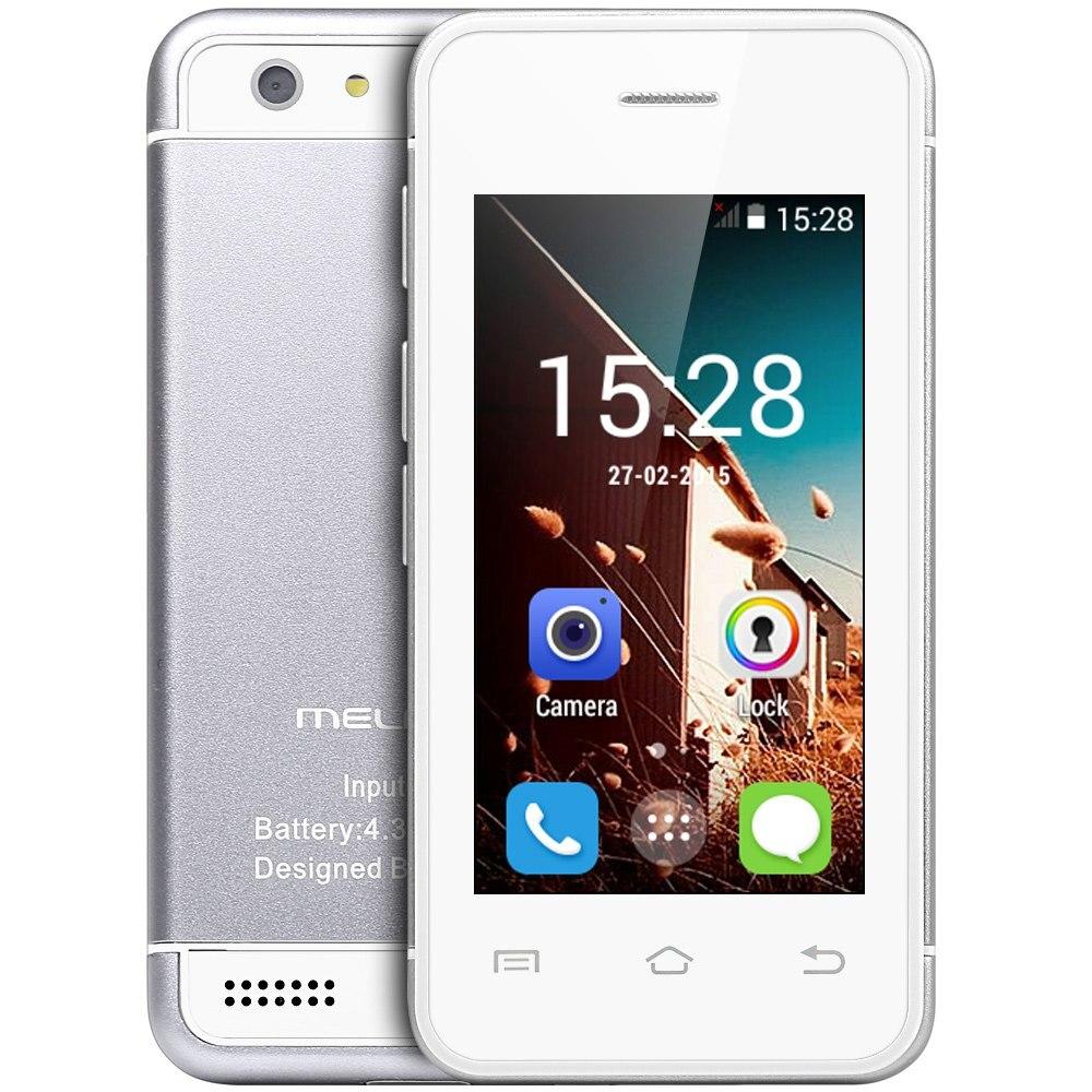 """Цена за Оригинальный melrose s9 mtk6572 dual core 2.4 """"Android 4.4 Мини 3 Г Сотовый Телефон Wi Fi Bluetooth 4 ГБ ROM ультратонкий Карманный Карт Телефоны"""