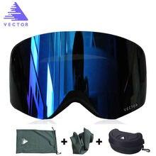 Очки Лыжные с двойными линзами uv400 для мужчин и женщин незапотевающие