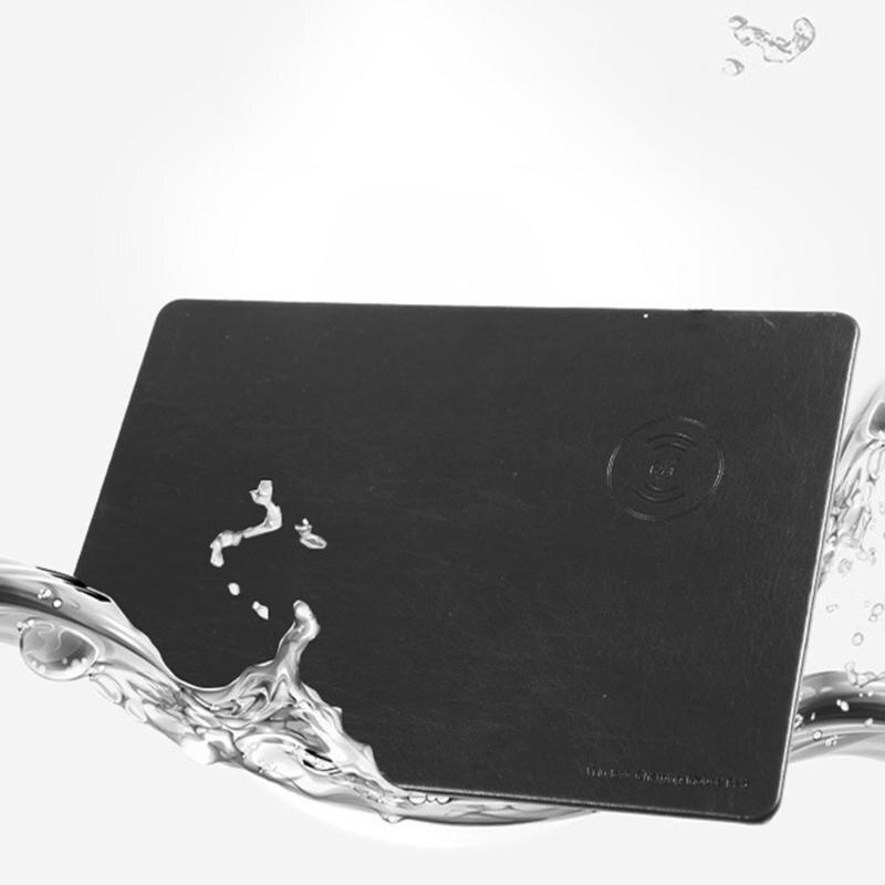 Alloyseed 3 цвета Многофункциональный ЦИ Беспроводной зарядки Мышь Pad DC 5 В 1.5a кожа Беспроводной Зарядное устройство для iphone8 Samsung Desktop