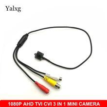 Segurança em casa 1080 p 1920*1080 ahd tvi cvi 3 em 1 mini câmera de vigilância cctv h.264 3.7mm lente 2mp com fio cor câmera de segurança
