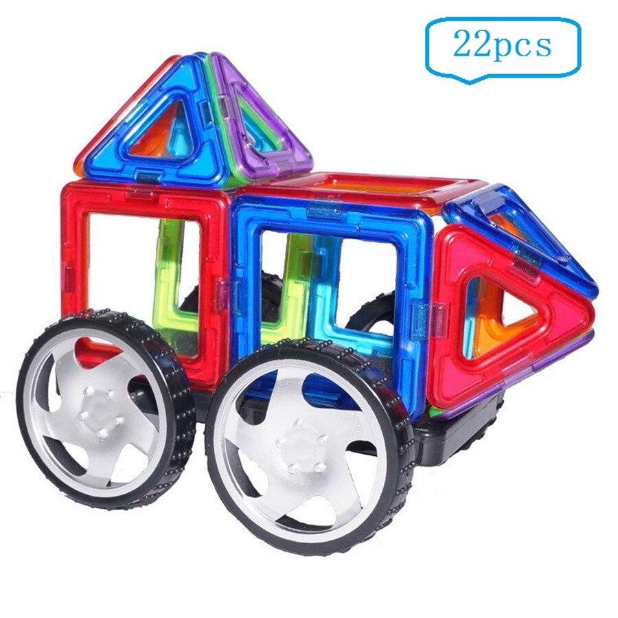 Бесплатная доставка 22 шт. Магнитный блок развивающая игрушка для малыша подарок и Магнитный конструктор игрушки магнит модель и Building Block ко...
