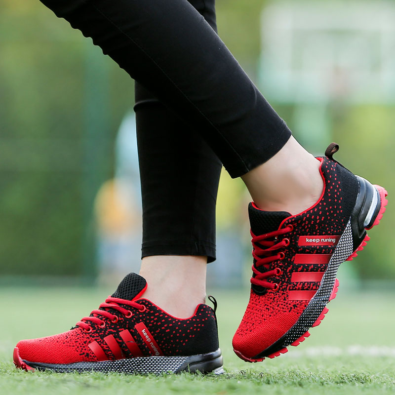 2018 New Trend Running Shoes Mens Sneakers Breathable Air Mesh Shoes Eva Athletic Sapatos Women Sport Runing Shoes