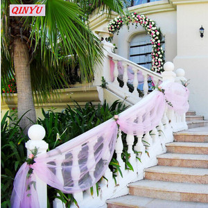 Image 3 - Creative 48CM*5M Multicolor Crystal Organza Tulle Yarn Roll Fabric Wedding Background Home Party Decoration Accessories 5z