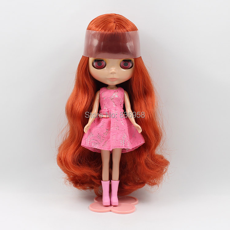 BL1027232 Red Bronze Long Hair Nude Blyth Doll Suitable For DIY Change BJD Toy For Girls blyth nude 30cm fashion red and black boneca cabelos longos bonecos colecionaveis doll toys for children girls