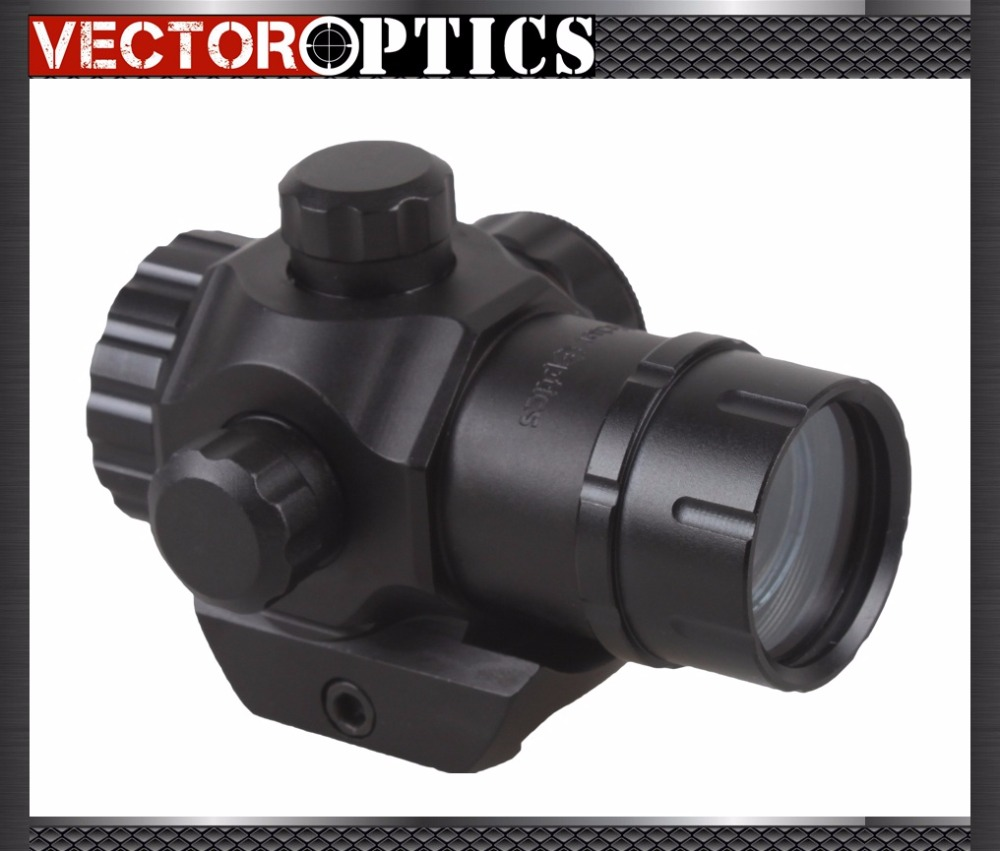 Vector Optics Tactical Harrie 1x22 Sub Compact Reflex Red Dot Scope Pistol Weapon Sight with 20mm Picatinny Mount For Hunting vector optics tempest 1x35 multi reticle tactical red dot scope mil spec matte finish fit picatinny rail low for night vision