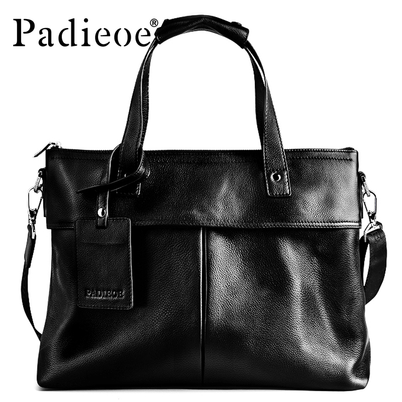 2017 Men Bag Padieoe  Design Men's Briefcase Genuine Leather 14