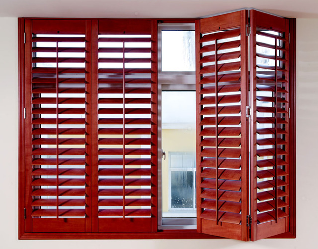 Wood shutters blinds imported basswood curtain folding door sliding ...