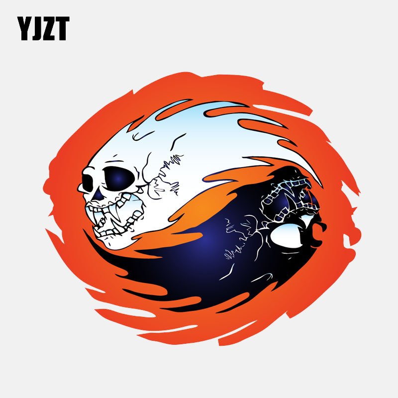 Car Stickers Trustful Yjzt 14.4cm*12.4cm Creative Fire Skull Helmet Window Fashion Pvc Decal Car Sticker 6-2576 High Quality Back To Search Resultsautomobiles & Motorcycles