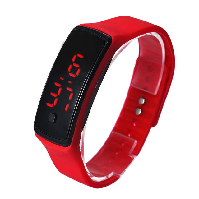 2018 Fashion Men Women LED Digital Bracelet Watch Ultra Thin Girl Sports Casual
