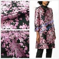 big brand show jacquard clothing fabrics high grade autumn and winter dresses windbreaker suit fashion fabrics crisp