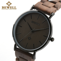 BEWELL Men Ultra Thin Wood Watches Luxury Watch Brand As Male Gift For Father Or Friend Dress Style Good Quality Watch 163A