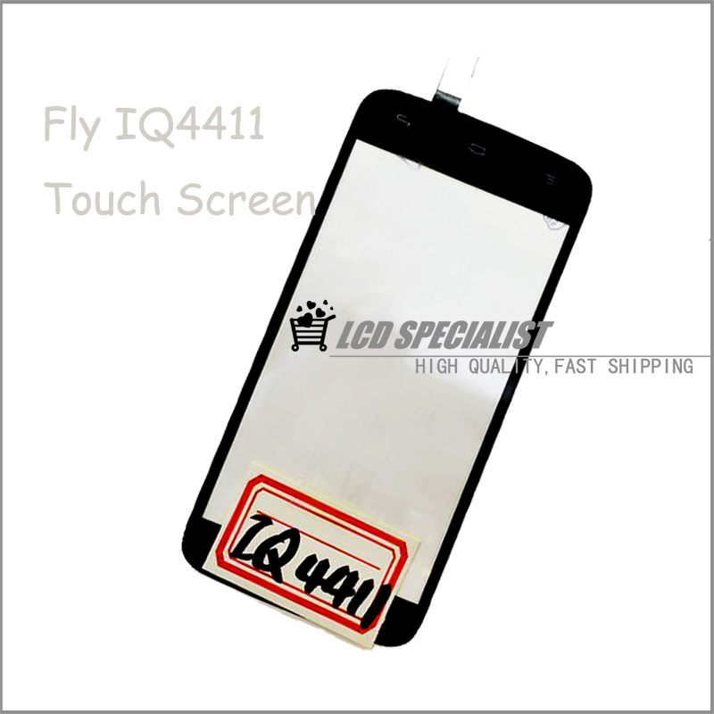 4.3 black Touch Screen Digitizer For Fly IQ4411 Energie 2, Touch Panel Replacement For Fly IQ 4411 With Tracking No
