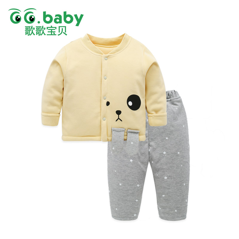 Christmas Outfits Newborn Baby Girl Pajamas Winter Clothes Set Long Sleeve Warm Thick Clothing Sets Elastic Pants For Newborns cotton kids baby sets clothing winter newborn long sleeve autumn baby boy pants set suit baby boy set clothes baby girl outfits