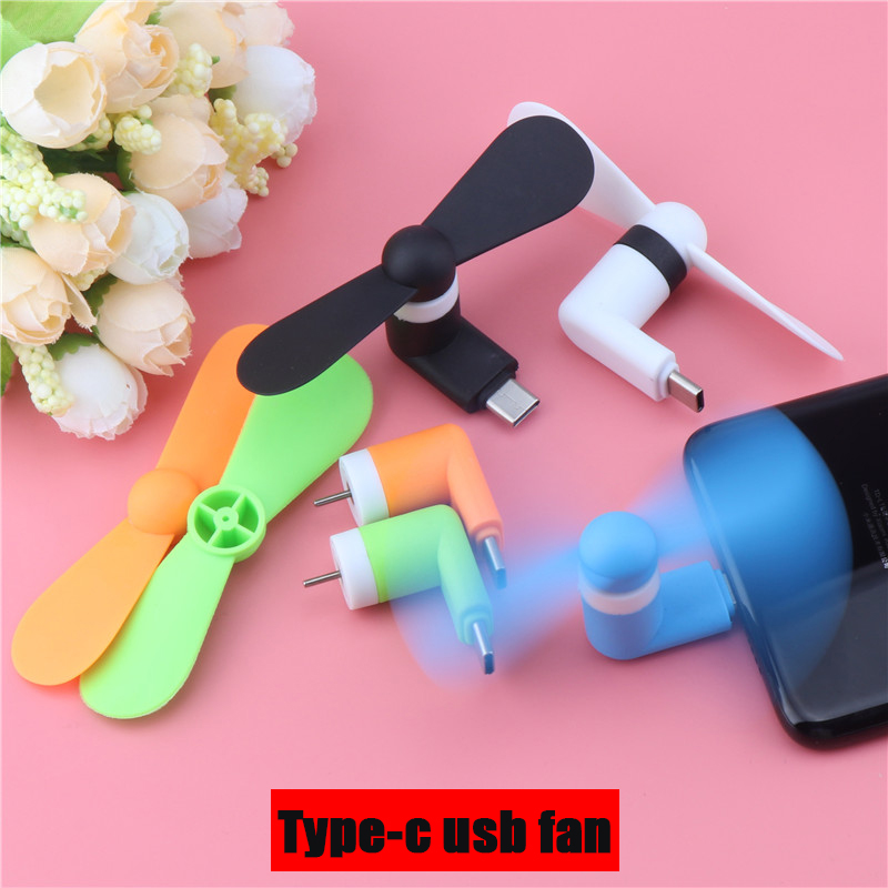 Mini Type-c USB Fan Flexible Cool Hand Fans For Xiaomi 4c 5 5s 6 Huawei P9 10 Type C Jack Interface Mobile Phone Fans For Summer