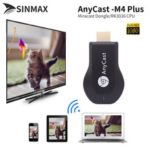 Anycast M4 Plus Mini PC Android Cast HDMI Wifi Display Dongle Mirroring Multiple TV Stick Adaptor Nikel Plating Vs YouTube DVB(China)