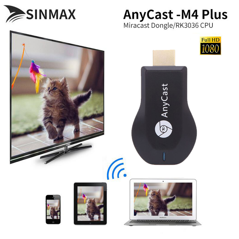 Anycast M4 plus Mini PC Android Cast HDMI WiFi display Dongle mirroring multiple TV stick Adapter Nickel plating vs youtube dvb