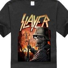 3a3576346 Slayer Tocha Camisa S M L Xl Camiseta Heavy Metal Banda Tshirt Oficial  Preto Novo(China)