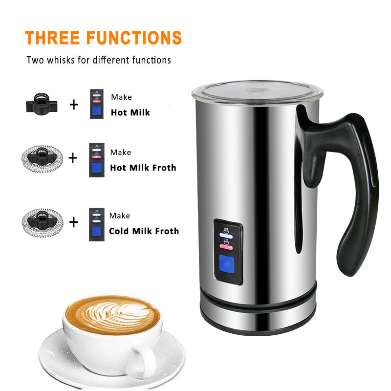 Electric Milk Frother Soft Foam Warmer for Coffee Essperso Cappuccino Milk Steamer Multifunction Creamer Milk Heater