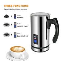 Electric Milk Frother Soft Foam Warmer for Coffee Essperso Cappuccino Milk Steamer Multifunction Creamer Milk Heater 220V 240V