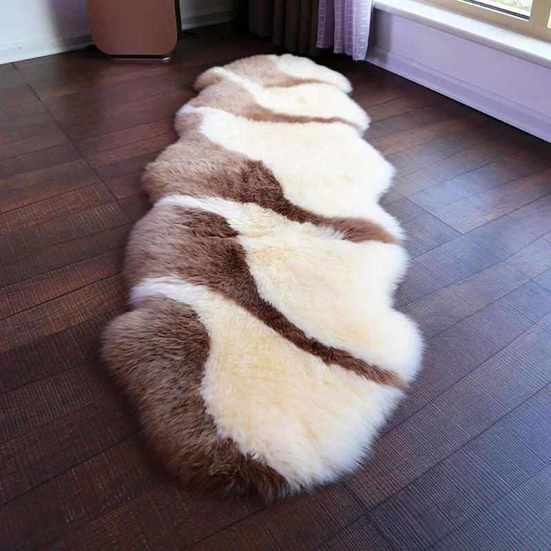 Nouveauté Unique design côte série 2 P 60*180 cm tapis en peau de mouton tapis en peau de mouton pour décor à la maison chambre toboggan tapis paillasson